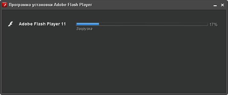 okno zagruzka flash player 2 Flash Player для Windows 7
