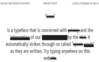 Шрифт, определяющий слова, по которым спецслужбы отслеживают пользователей