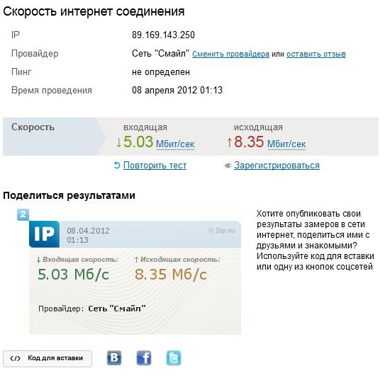 Ip (2ip ru), speedtest (speedtest net), Яндекс Интернетометр