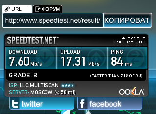 тест скорости speedtest